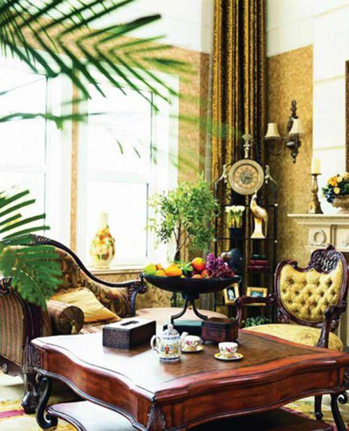 浪漫欧式华丽客厅装修设计图