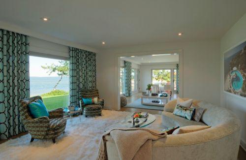 2016欧式风格大气白色客厅装修设计