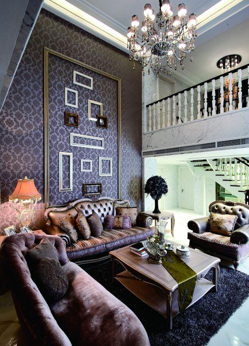 华丽欧式别墅客厅装修效果图