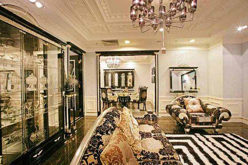 欧式风格精致繁美客厅装潢设计