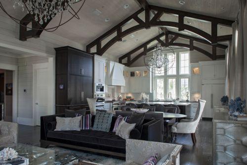 灰色大气工业风时尚欧式客厅装修图片