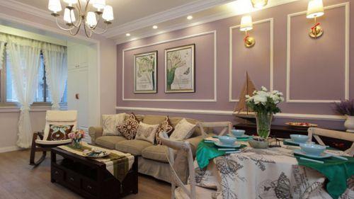 欧式风格浪漫紫色客厅装饰美图