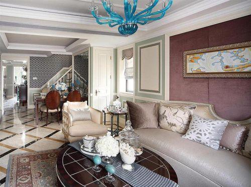 米色欧式风格客厅图片赏析