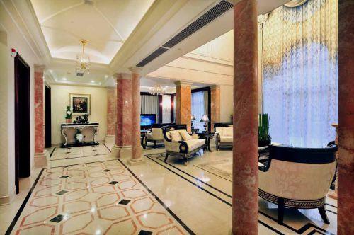 欧式粉嫩客厅装潢设计
