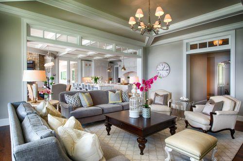 白色欧式风格雅致客厅设计装潢