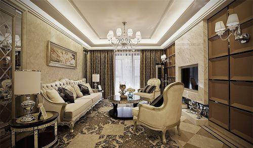 欧式风格米色轻奢客厅装修美图