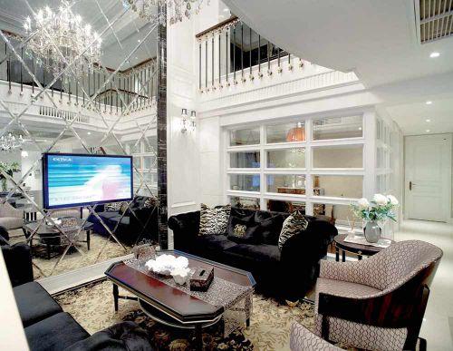 欧式浪漫奢华客厅装修效果图