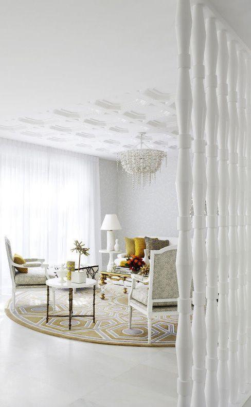 欧式古典时尚客厅隔断设计