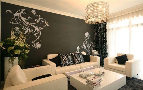 欧式精致浪漫客厅装潢案例
