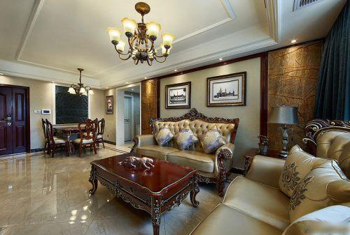 欧式风格客厅装修效果图片
