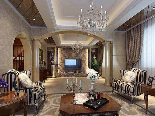 欧式时尚奢华客厅装修图