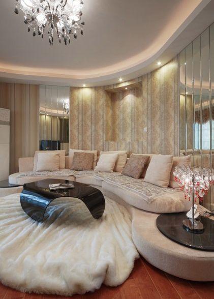 优雅欧式风格客厅装修设计案例