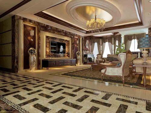 欧式客厅装修设计图