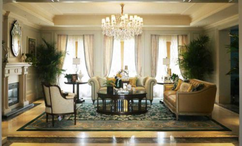 欧式古典奢华客厅装饰