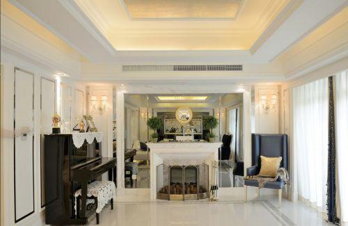 2016米色欧式风格客厅装潢案例