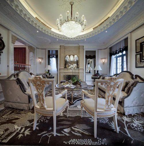 清新华丽欧式客厅装修设计图片
