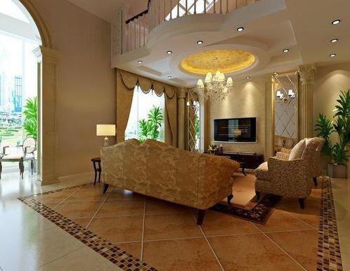 欧式风格客厅装修设计欣赏