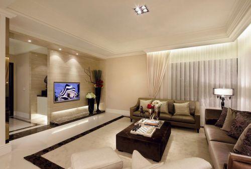 2016米色欧式风格客厅设计装潢