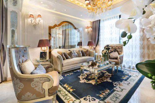 欧式高贵雅致客厅装修欣赏