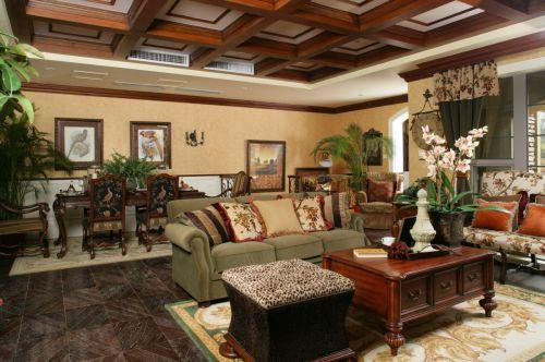 休闲欧式风格客厅装修效果图片