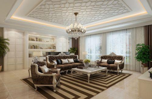 雅丽大气欧式客厅吊顶设计赏析
