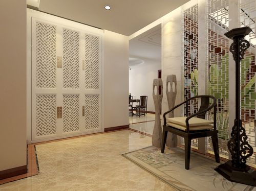 欧式客厅镂花隔断设计