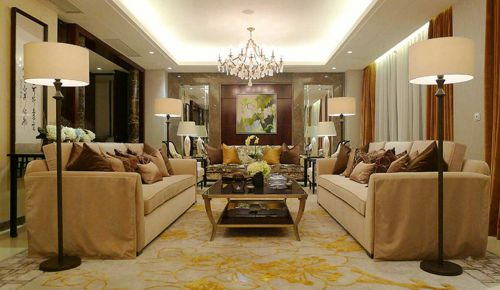 中式客厅装修效果图