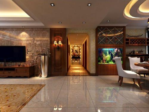 欧式大气华丽客厅过道装潢设计