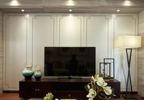 大气中式客厅背景墙设计