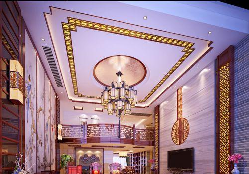 奢华中式客厅吊顶设计