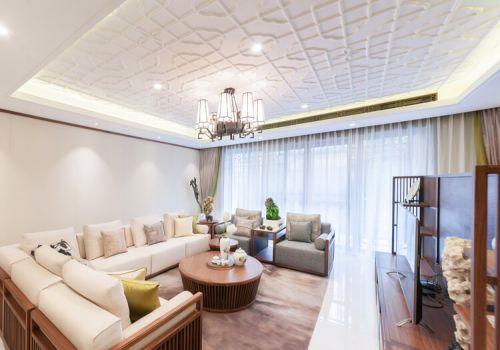 简约中式客厅吊顶设计