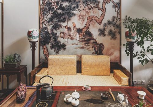 精美壁画中式沙发背景墙欣赏