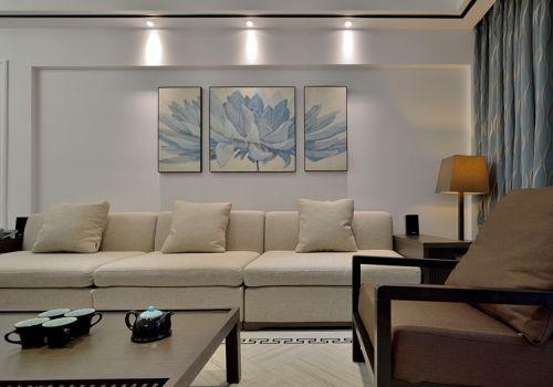典雅中式客厅背景墙设计