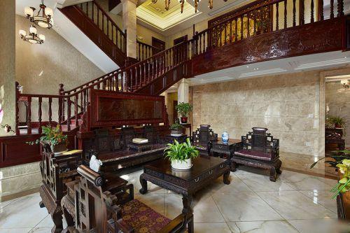 中式风格大气米色客厅设计欣赏