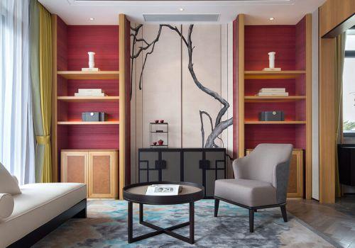 素雅中式客厅背景墙欣赏