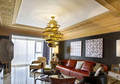 精致中式客厅吊顶设计