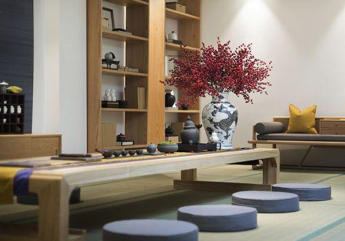 淡雅中式茶室装修效果