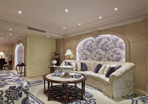 青花瓷沙发背景墙欣赏