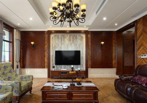 低调中式客厅背景墙设计
