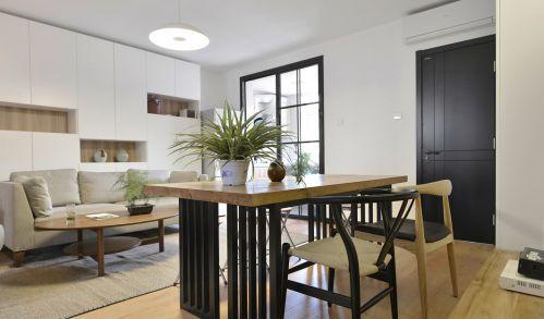 现代中式原木风格客厅设计