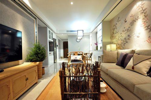 古典自然新中式风格客厅装修