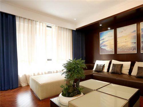 中式简洁舒适客厅装修设计图