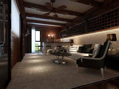 2018中式风格客厅装修设计欣赏