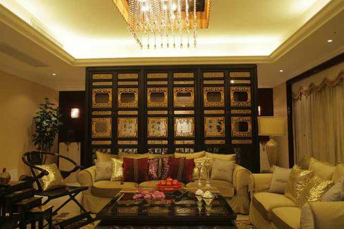 中式客厅设计全景欣赏
