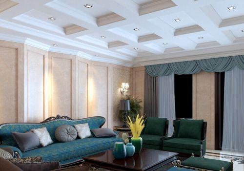 优雅中式客厅吊顶设计