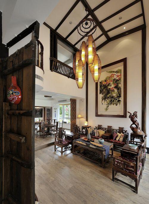 中式现代客厅设计效果图