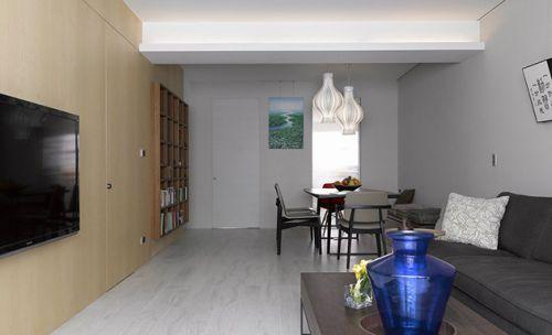 白色中式客厅图片
