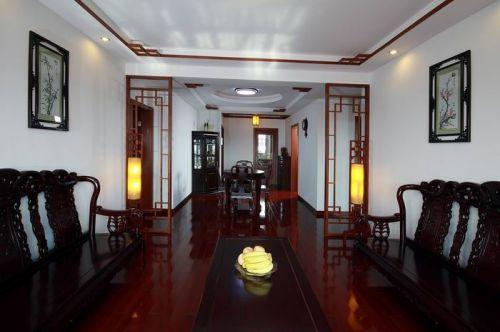 白色中式客厅设计效果图