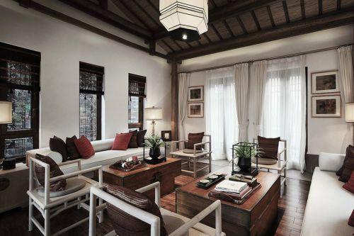 中式风格客厅效果图设计