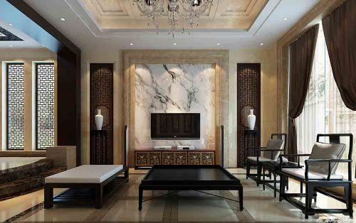 中式客厅装修效果设计